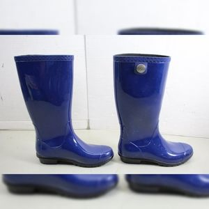 UGG Shay Blue Rain Boots Size 7